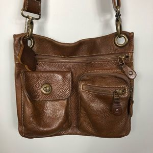 Roots Vintage Leather Crossbody Purse